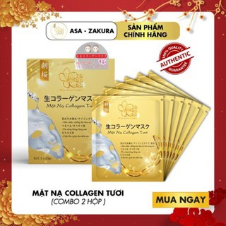 [BEST SELLER] Combo 2 Hộp Mặt Nạ Collagen Tươi (Hộp 3 Miếng) TẶNG 1 Chai Gel Rửa Tay Khô 60ml - CB2MNC-ASA thumbnail