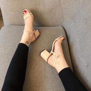 Giày sandanl mũi ngang viền gót siêu đẳng cấp - sg3625 thumbnail