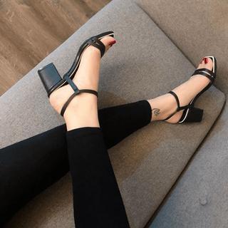 Giày sandanl mũi ngang viền gót siêu đẳng cấp - sb27266 thumbnail