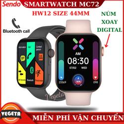 ( Bảo Hành 12 Tháng ) Đồng hồ thông minh MC72 ( HW12 Size 44mm) - Màn Hình Tràn Viền 1,75inch  Thay Đổi Hình Nền Nghe Gọi Trực Tiếp Nút Xoay Digital Crown Tiếng Việt 100%