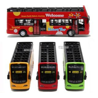 Mô hình xe buýt kim loại 2 tầng mui trần đồ chơi trẻ em [ĐƯỢC KIỂM HÀNG] - SHOPBAN900VN thumbnail