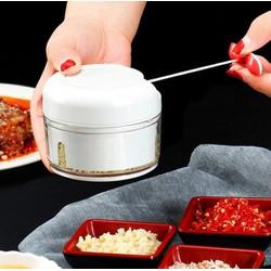 HỖ TRỢ PHÍ VẬN CHUYỂN-Máy xay tỏi ớt rau củ gia vị xay đồ ăn dặm cho bé bằng tay tiện lợi