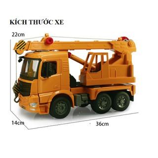 Xe ô tô cẩu móc đồ chơi trẻ em xe mô hình công trình cỡ lớn MÀU VÀNG hãng Double E226-002 [ĐƯỢC KIỂM HÀNG] - SHOPBAN895VN thumbnail