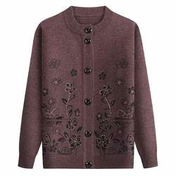 Áo khoác len cardigan cho người già và trung niên