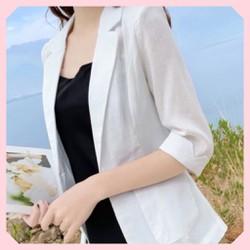 Áo vest  áo blazer nữ vải xước độc đáo  mát đẹp thời trang