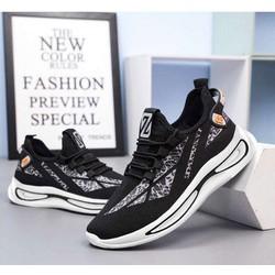 Giày Sneaker Nam Vải Dệt Thoáng Khí, Giày Chạy Bộ Đế Cao Su Siêu Êm G174