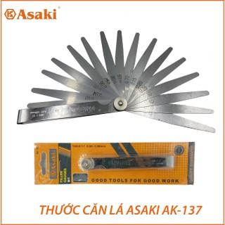 Thước lá đo khe hở 17 lá chính hãng ASAKI AK-137 size 0,02-1mm , thước kiểm tra độ rộng kẻ hở ở các chi tiết cơ khí - AK-137 thumbnail
