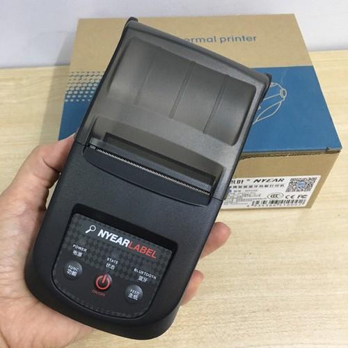 Máy in tem nhãn, in hóa đơn nhiệt cầm tay kết nối bluetooth np-100 ( ios và androi)