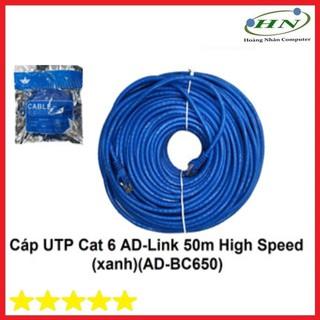 Cáp UTP CAT 6 AD-link 50 mét high speed màu xanh AD-BC650 - 5777444 thumbnail