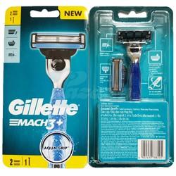 Dao cạo râu 3 lưỡi Gillette Mach 3+ (1 tay cầm và 2 đầu cạo)
