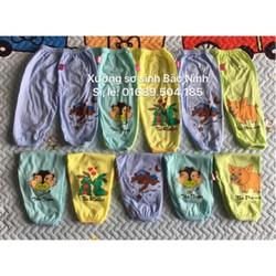 Lố 10 quần dài cotton loại 1  1-8   hình in khác nhau tuỳ lô