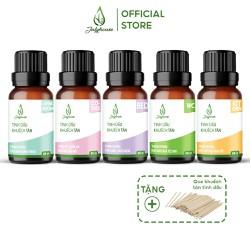 Combo 5 Bộ Khuếch tán Tinh dầu thiên nhiên khử mùi, thơm phòng chăm sóc ngôi nhà toàn diện JULYHOUSE