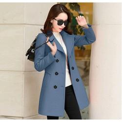 Áo khoác dạ măng tô nữ cổ vest công sở cao cấp Thoitranghd.com