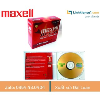 Đĩa trắng DVD-R Maxell có vỏ - hộp 10 đĩa - Made in Taiwan - DVDMXCV thumbnail