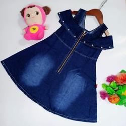 Đầm Jean cho bé gái từ 16kg - 35kg. Quý khách được kiểm tra sản phẩm