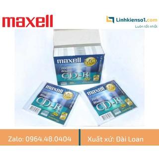 Đĩa trắng CD-R Maxell 700MB có vỏ - hộp 10c - Made in Taiwan - MXCVCD thumbnail