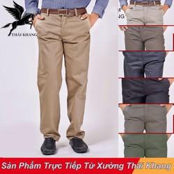 Quần Kaki Dài Nam trung niên vải dày bền đẹp không ra màu không xù lông size 50-100kg
