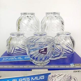 Bộ 6 cốc thủy tinh cao cấp có quai - zz15 thumbnail