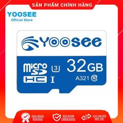 Thẻ Nhớ Yoosee 32Gb U3 Tốc Độ Cao Chuyên Dụng Cho Camera, Điện Thoại, Máy Tính Bảng