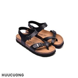 Sandal xỏ ngón đen HuuCuong - 2133 thumbnail