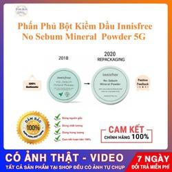Phấn Phủ Bột Kiềm Dầu Innisfree. No Sebum Mineral Powder 5G [ Cam Kết  Hàng Chuẩn 100%   ]