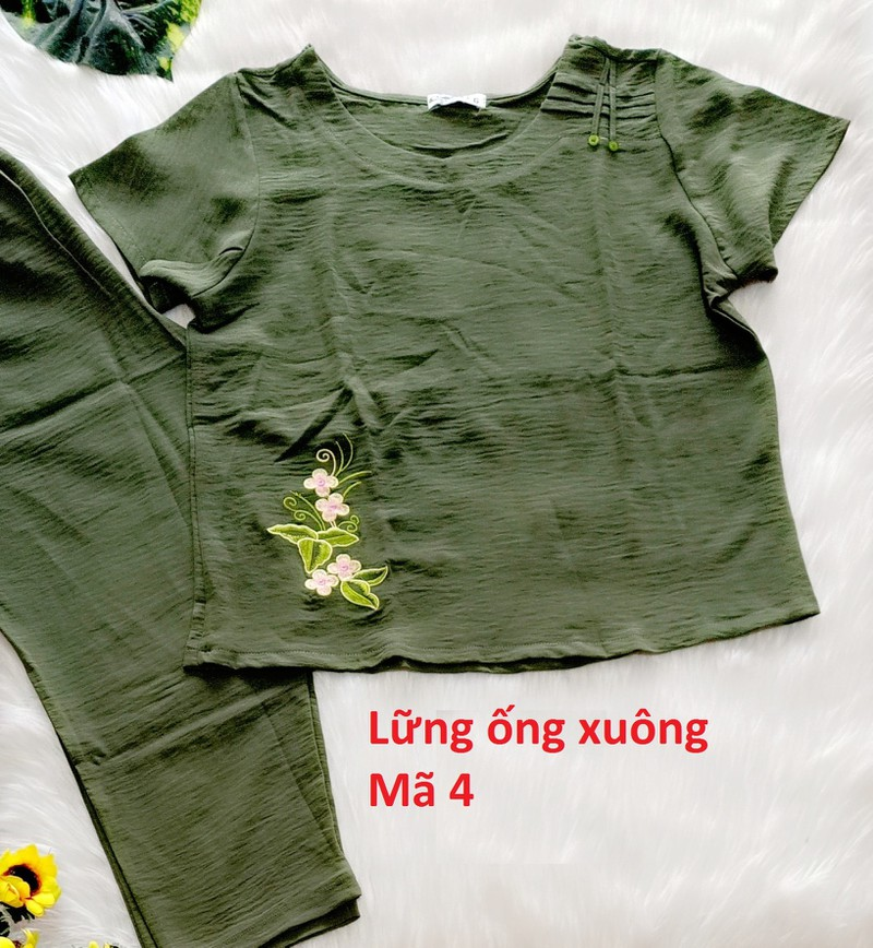 Bộ đũi Quỳnh Anh cao cấp - 45 đến 75kg - quần có túi - ảnh thật - Cho kiểm hàng - 474 3