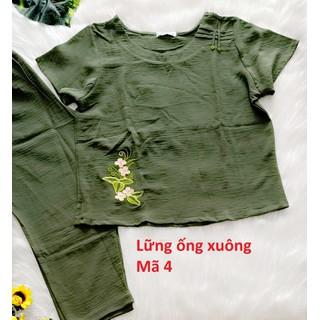 Bộ đũi Quỳnh Anh cao cấp - 45 đến 75kg - quần dài có túi - ảnh thật - Cho kiểm hàng - 474 4