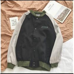 Áo khoác bomber nữ chất dù 2 lớp phối hàng cúc siêu đẹp - hàng bao chất vải
