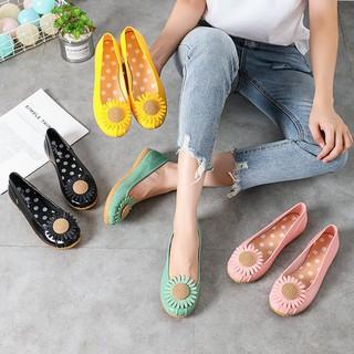Giày búp bê , giày lười nữ đế thấp chống trượt họa tiết hoa siêu xinh - giaydimua 4