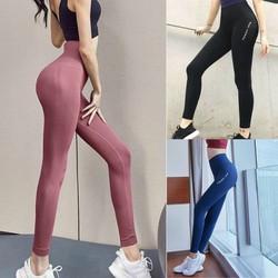 Quần dệt Ami cạp cao tập gym yoga thể thao nữ
