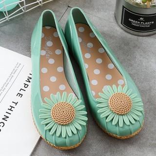 Giày búp bê , giày lười nữ đế thấp chống trượt họa tiết hoa siêu xinh - giaydimua 1