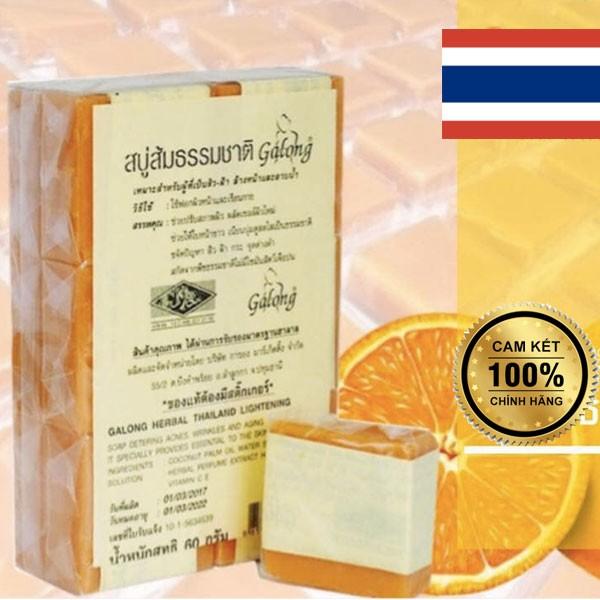 Lốc 12 xà phòng tính chất NGHỆ và CAM - ngừa mụn, dưỡng trắng - Thái Lan