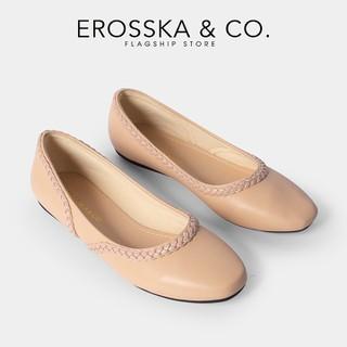 Giày búp bê Erosska thời trang mũi vuông phối dây đan chéo phong cách trẻ trung màu nude _ EF009 - EF009NU thumbnail