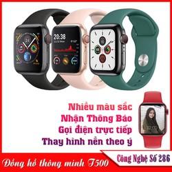 Đồng hồ thông minh T500 Series 5 , SMART WATCH SERIES 5 T500 - Thay được hình nền tùy ý từ điện thoại , Thiết kế thời thượng,thông minh, Gọi điện nghe nhạc trực tiếp , Thông báo tin nhắn