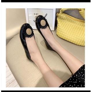 Giày búp bê , giày lười nữ đế thấp chống trượt họa tiết hoa siêu xinh - giaydimua 6