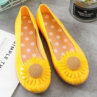 Giày búp bê , giày lười nữ đế thấp chống trượt họa tiết hoa siêu xinh - giaydimua 3