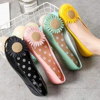Giày búp bê , giày lười nữ đế thấp chống trượt họa tiết hoa siêu xinh - giaydimua 8