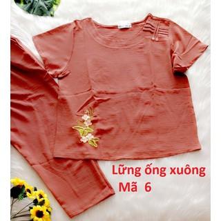 Bộ đũi Quỳnh Anh cao cấp - 45 đến 75kg - quần dài có túi - ảnh thật - Cho kiểm hàng - 474 7