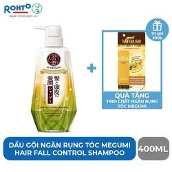 [MUA 1 TẶNG 1] Dầu gội ngăn rụng tóc Megumi Hair Fall Control 400ml + Tặng Tinh chất ngăn rụng tóc Megumi 50ml
