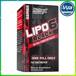 Giảm Cân Đốt Mỡ Nutrex - Lipo-6 Black Ultra Concentrate (60 viên) (BBT)
