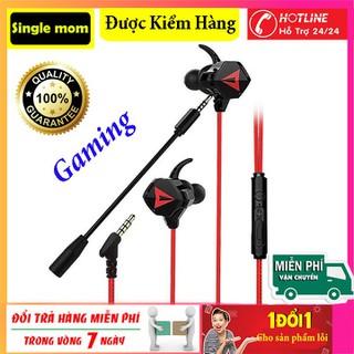 Tai nghe nhét tai Gaming có dây có mic G901 chơi pubg, game mobile-tai nghe nhét Gaming tai âm thanh HD + tặng kèm cáp chuyển đổi để dùng cho máy tính, laptop - G901 thumbnail
