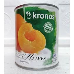 Đào tươi ngâm si rô KRONOS Peach Halves in Syrup 820g