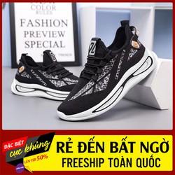 Giày thể thao – giày thể thao đủ size cho cả nam và nữ [trắng sọc bạc]