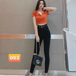 Quần jean nữ lưng cao mẫu đẹp mặc tết 2021