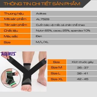 Bán sỉ - AOLIKES HH 7529 - Đai bó cổ chân có cuốn, bảo vệ mắt cá chân chống trơn trượt chuyên gym CHÍNH HÃNG [ĐƯỢC KIỂM HÀNG] 24707225 - 24707225 thumbnail