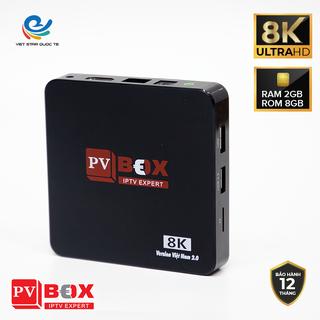 Đầu thu android tvbox 1GB xem được hơn 500 kênh nước ngoài miễn phí kết nối internet tải ứng dụng ( tặng gói kích hoạt 1 năm ) - PVBOX thumbnail