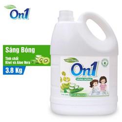 Nước rửa chén On1 hương kiwi và aloe vera 3.8Kg - Sạch bóng vết dầu mỡ