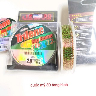 cước thẻo 3D cước mỹ tàng hình cước câu cá 50m - cước thẻo 3D cước mỹ tàng hình cước câu cá thumbnail