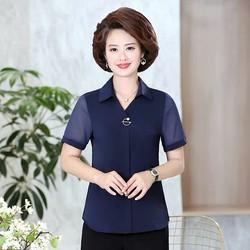 áo sơ mi nữ tay ngắn quý cô -(thoi trang trung niên bigsize05)-nh11-121