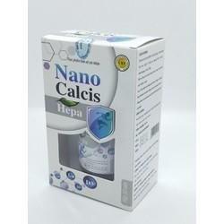 Viên uống canxi từ tảo biển NANO CALCIS HEPA - bổ sung canxi từ vỏ sò, tảo biển cho bà bầu, trẻ em cần phát triển chiều cao, người già ngừa loãng xương - Hộp 30 viên chuẩn GMP